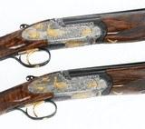 Perazzi Extra Oro side-plated SCO 28 ga. pair