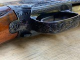 Winchester Model#12, 12g, Restored, Beautifully Engraved, Silver enlay dogs & Birds - 4 of 14