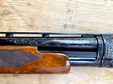 Winchester Model#12, 12g, Restored, Beautifully Engraved, Silver enlay dogs & Birds - 11 of 14