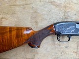 Winchester Model#12, 12g, Restored, Beautifully Engraved, Silver enlay dogs & Birds - 13 of 14