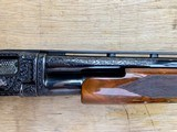Winchester Model#12, 12g, Restored, Beautifully Engraved, Silver enlay dogs & Birds - 5 of 14