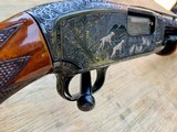 Winchester Model#12, 12g, Restored, Beautifully Engraved, Silver enlay dogs & Birds - 1 of 14