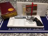 COLT PYTHON STAINLESS ORIGINAL BOX PAPERWORK