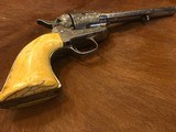 Beautiful New York Engraved Colt Single Action Army .44 Etched Carved Snake & Eagle Ivory - 13 of 15