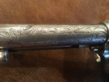 Beautiful New York Engraved Colt Single Action Army .44 Etched Carved Snake & Eagle Ivory - 3 of 15