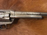 Beautiful New York Engraved Colt Single Action Army .44 Etched Carved Snake & Eagle Ivory - 7 of 15