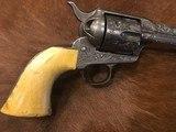 Beautiful New York Engraved Colt Single Action Army .44 Etched Carved Snake & Eagle Ivory - 6 of 15