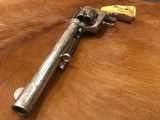 Beautiful New York Engraved Colt Single Action Army .44 Etched Carved Snake & Eagle Ivory - 14 of 15