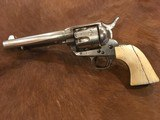 Antique Colt Single Action Army .44 Great Etched Panel, Ivory, Nickel