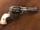 Texas Shipped, Colt Single Action Army .45, Pearl Grips, Nickel Letter Austin - 6 of 15