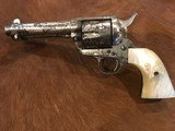 Texas Shipped, Colt Single Action Army .45, Pearl Grips, Nickel Letter Austin