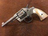 Very Scarce Factory Engraved Colt Model 1889 Antique Revolver