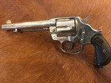 Beautiful Antique Colt 1878 DA .44 cal Etched Panel, Nickel, Revolver Made 1889