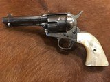 Antique Western Shipped Colt Single Action, Factory Error, .38/40 Nickel, Pearl,