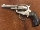 Antique Colt Lightning Revolver, .38, Nickel, Letter
