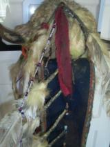 1860's KIOWA INDIAN BUFFALO HEADDRESS. - 4 of 5