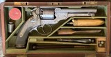 EXCEPTIONAL FACTORY ENGRAVED & CASED CSA KERR PERCUSSION REVOLVER.