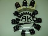 SAKO FACTORY SCOPE RINGS EARLY VINTAGE ALL THREE SIZES AVAILABLE, STANDARD BLUE AND DELUXE BLUE - 2 of 2