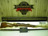 BROWNING BELGIUM SAFARI RIFLE CAL: 222 HEAVY BARREL WITH BEAUTIFUL WOOD 1964 PRODUCTION'NEW IN BOX - 1 of 11