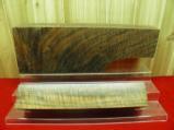 AAAA EXHIBITION GRADE CURLY FIDDLEBACK CLARO WALNUT 2 PIECE GUN STOCK BLANK - 1 of 4
