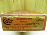 COLT GOVERNMENT MODEL MKIV / SERIES 70 45 ACP FINISH