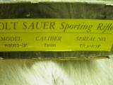 COLT SAUER GRADE IV SPORTING RIFLE CAL: 7 REM. MAG. WITH BIG HORN SHEEP ENGRAVING SCENE 100% NEW IN FACTORY BOX - 17 of 17
