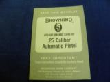 BROWNING BABY 25 CAL: RENAISSANCE MINT IN CASE WITH BOOKLET! - 17 of 18