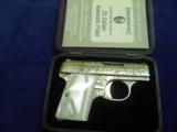 BROWNING BABY 25 CAL: RENAISSANCE MINT IN CASE WITH BOOKLET!