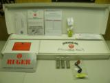 RUGER ALL WEATHER STAINLESS RED LABEL O/U 12 GA LIMITED RUN ENGRAVED AND GOLD 100% NEW IN BOX!