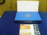 "COLT SAA 45 COLT 4 3/4"" BARREL BEAUTIFUL HIGH GLOSS BLUE AND CASE COLORS UNFIRED IN FACTORY BOX"