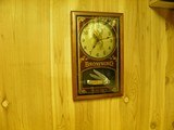BROWNING MEMORABILIA AND COLLECTABLES, CLOCK AND BACK LITE COUNTER SIGN