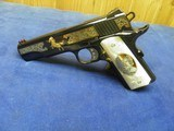 COLT 1911 CUSTOM SHOP ELPOTRO RAMPANTE 38 SUPER 1 OF 500 100% NEW AND UNFIRED IN COLT CASE! - 3 of 9
