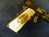 COLT 1911 CUSTOM SHOP ELPOTRO RAMPANTE 38 SUPER 1 OF 500 100% NEW AND UNFIRED IN COLT CASE! - 6 of 9