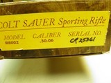 COLT SAUER SPORTING RIFLE CAL: 30/06 100% NEW AND UNFIRED IN FACTORY BOX! - 13 of 13
