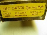 COLT SAUER SPORTING RIFLE CAL: 300 WEATHERBY MAGNUM 100% NEW IN FACTORY BOX! - 14 of 14