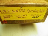 """COLT SAUER SPORTING RIFLE IN THE """"RARE"""" CALIBER 308 WIN. 100% NEW IN FACTORY BOX! - 14 of 14"""