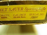 """COLT SAUER SPORTING RIFLE CALIBER 22/250 """"SECOND RAREST"""" CAL: 100% NEW AND UNFIRED IN FACTORY BOX! - 14 of 15"""