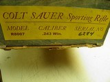 COLT SAUER SPORTING RIFLE CAL: 243 WIN. NEW AND UNFIRED IN FACTORY BOX! - 14 of 14