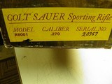 COLT SAUER SPORTING RIFLE CAL: 270 BEAUTIFUL COLORED MULTI STRIPE WOOD 100% NEW IN FACTORY BOX! - 14 of 14
