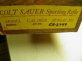 COLT SAUER SPORTING RIFLE IN THE SCARCE CALIBER 25/06 BEAUTIFUL FIDDLE BACK WOOD, 100% NEW IN FACTORY BOX! - 16 of 17