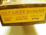 "COLT SAUER SPORTING RIFLE CAL: 300 WIN. MAGNUM ""OUTSTANDING WOOD"" 100% NEW AND UNFIRED IN FACTORY BOX!! - 13 of 13"