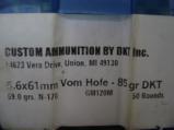 5.6 x 61R Vom Hoffe Custom Loaded Ammo - 3 of 4