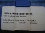 5.6 x 61R Vom Hoffe Custom Loaded Ammo - 4 of 4