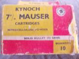 Kynoch 7mm Mauser 173 grain solids - 1 of 1