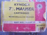 Kynoch 7mm Mauser 173 grain soft point - 1 of 1