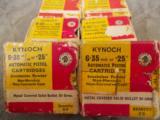 Kynoch 6.35mm - 25 auto 50 grain bullets