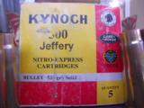 500 Jeffery Kynoch Brass-Once Fired- 2 of 2