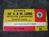 Kynoch 32 S&W Long Revolver Cartridges 50 round 96 grain bullets - 2 of 2