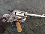 Colt Police Positive Special - Silver Plated - John Adams Engraved .38 Special5 inch Barrel Lay away available.