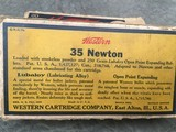 NEWTON---.35 NEWTON FACTORY WESTERN CARTRIDGE CIRCA 1930 ** CARTRIDGE COLLECTORS --YOU WON'T FIND OTHERS ** - 8 of 14